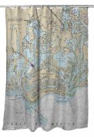 FL: Marco Island, FL Nautical Chart Shower Curtain
