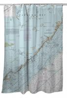 FL: Islamorada, FL Nautical Chart Shower Curtain