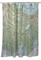LA: New Orleans, LA Nautical Chart Shower Curtain