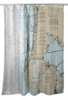 FL: Clearwater, FL Nautical Chart Shower Curtain