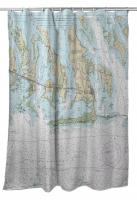 FL: Ramrod, Torch & Big Pine Keys, FL Nautical Chart Shower Curtain