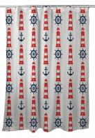 Captains Key - Lighthouse Shower Curtain