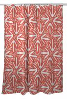 Tribal Lagoon Coral Shower Curtain