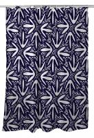 Tribal Lagoon Navy Shower Curtain