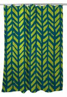 Grand Bahama - Drifter Turquoise & Lime Shower Curtain