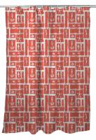 Ocean Squares Coral Shower Curtain