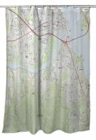 NC: New Bern, NC (2019) Topo Map Shower Curtain