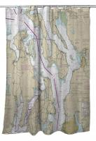 WA: Puget Sound Northern, WA Nautical Chart Shower Curtain