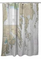 AK: Cape Resurrection to Two Arm Bay, AK Nautical Chart Shower Curtain