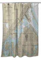 MN-WI: Duluth - Superior Harbor, MN-WI Nautical Chart Shower Curtain