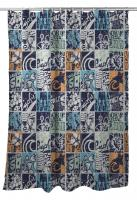 Surfing Patchwork Shower Curtain