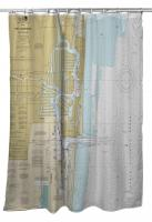 FL: Fort Lauderdale, Port Everglades, FL Nautical Chart Shower Curtain