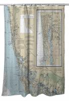 FL: Naples, FL Nautical Chart Shower Curtain