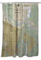 GA: Savannah, GA Nautical Chart Shower Curtain