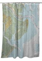 GA: Tybee Island, GA Nautical Chart Shower Curtain