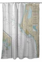 CA: Crescent City, CA Nautical Chart Shower Curtain