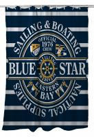 Blue Star Sailing Shower Curtain