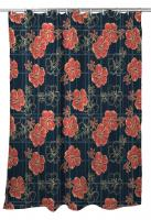 Hibiscus Plaid Shower Curtain