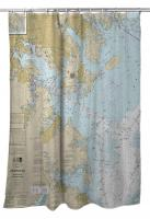 MD: Approaches to Baltimore Harbor, MD Nautical Chart Shower Curtain