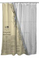 FL: Ormond Beach, Daytona Beach, FL Nautical Chart Shower Curtain