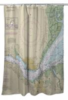 CA: Benicia, CA Nautical Chart Shower Curtain