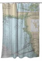 FL: Yankeetown, FL Nautical Chart Shower Curtain
