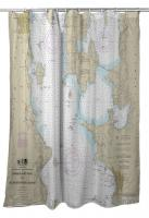 VT: Burlington, VT Nautical Chart Shower Curtain
