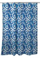 Swirls Blue Shower Curtain