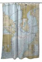 FL: Tampa Bay, FL Nautical Chart Shower Curtain