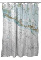 FL: Islamorada, FL (Close Up) Nautical Chart Shower Curtain