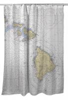 HI: Hawaiian Southern Islands Nautical Chart Shower Curtain
