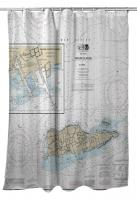 VI: St. Croix, USVI Nautical Chart Shower Curtain