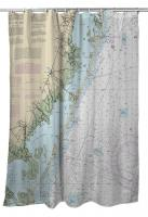 NJ: Long Beach Island, NJ Nautical Chart Shower Curtain