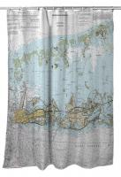 FL: Key West, Boca Chica, FL Nautical Chart Shower Curtain