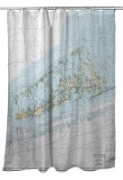 FL: Lower Florida Keys, Key West to Little Pine Key, FL Nautical Chart Shower Curtain