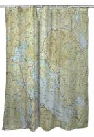 NH: Lake Winnipesaukee, NH Nautical Topo Map Shower Curtain