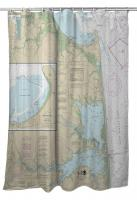 DE: Cape Henlopen to Indian River Inlet, DE Nautical Chart Shower Curtain