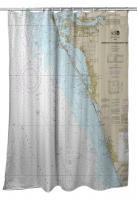 FL: Lemon Bay to Passage Key Inlet, Bradenton, Sarasota, FL Nautical Chart Shower Curtain