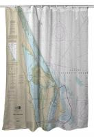 FL: Cape Canaveral, FL Nautical Chart Shower Curtain
