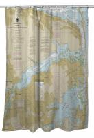 NJ: Navesink and Shrewsbury Rivers, Redbank, Rumson Neck, NJ Nautical Chart Shower Curtain