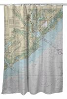SC: Charleston Harbor and Approaches, SC Nautical Chart Shower Curtain