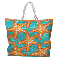 Starfish in Waves Tote Bag