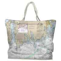 RI-MA: Little Compton, RI to South Dartmouth, MA Nautical Chart Tote Bag