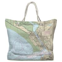 CA: Vallejo, CA Nautical Chart Tote Bag