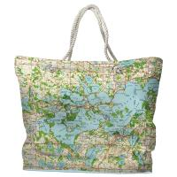 MN: Lake Minnetonka, MN (1958) Topo Map Tote Bag