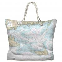 MA: Nantucket Sound and Approaches, MA Nautical Chart Tote Bag