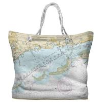 FL: Crystal Beach, Honeymoon Island, FL Nautical Chart Tote Bag