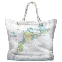 BVI: Virgin Gorda, BVI II Nautical Chart Tote Bag