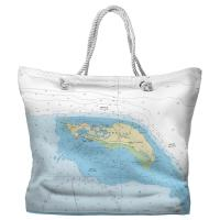 BVI: Anegada, BVI Nautical Chart Tote Bag