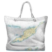 Anguilla, West Indies Nautical Chart Tote Bag